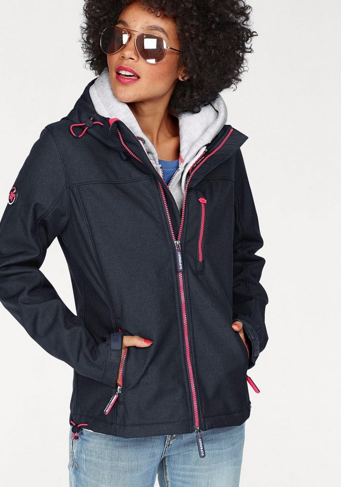 superdry kurzjacke hooded windtrekker mit neonpinken. Black Bedroom Furniture Sets. Home Design Ideas