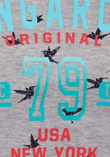 KangaROOS Sweatshirt, im Allover-Kolibri-Druck mit Front-Print