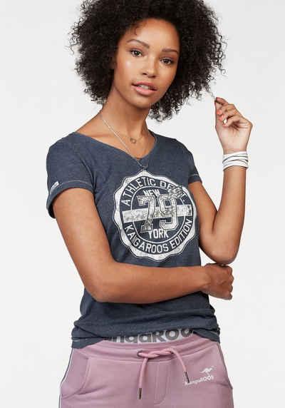 KangaROOS T-Shirt mit großem Front-Print 1f635f752f