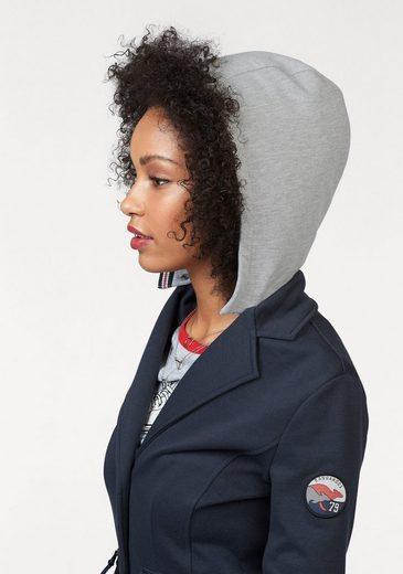 Kangaroos Sweat Blazer, With Many Details And Detachable Hood