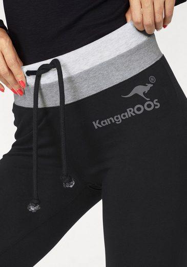 KangaROOS Leggings, mit kontrastfarbenen Einsätzen und Drucken