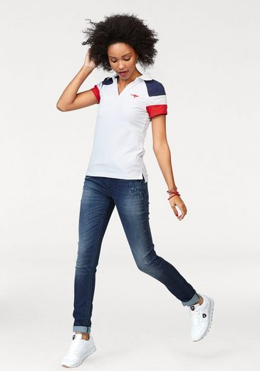 Kangaroos Polo Shirt, Color Inserts And With Logo-embroidery
