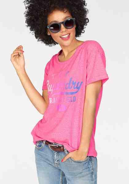 Superdry T-Shirt »TRACKSTER SLIM BF TEE« mit mehrfarbigem Frontprint