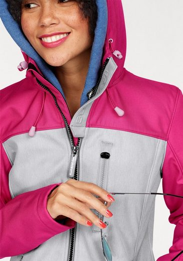 Superdry Kurzjacke HOODED RETRO WINDTREKKER, im Trend Colourblocking