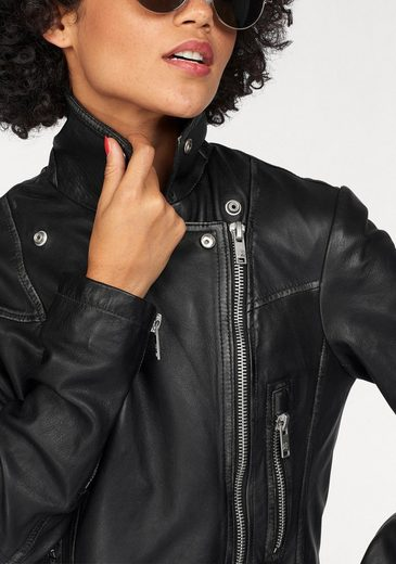 Superdry Lederjacke L.A. LEATHER BIKER, im Biker Look