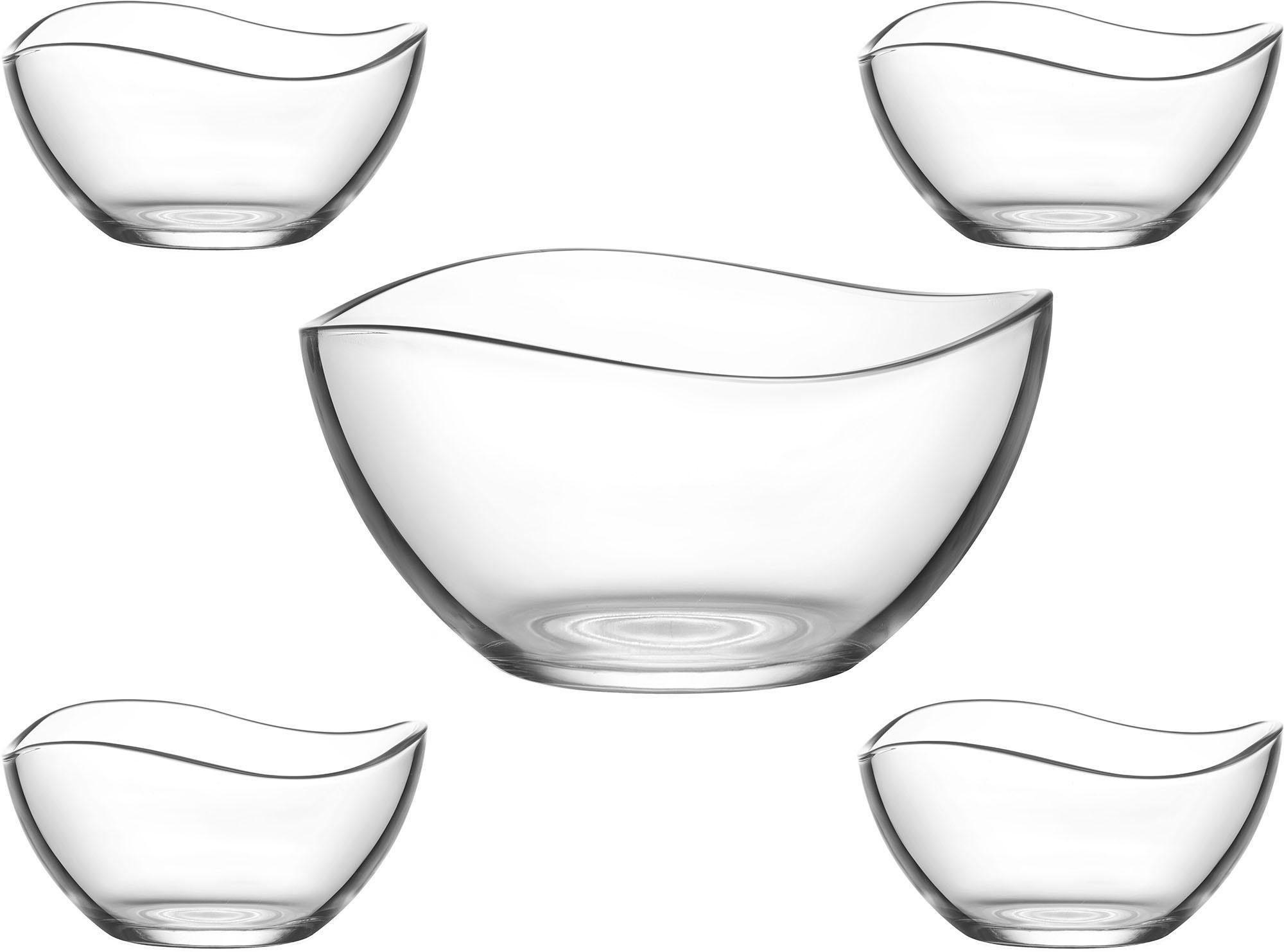 Van Well Schüssel-Set, Glas, 5 Teile, »Malaga«