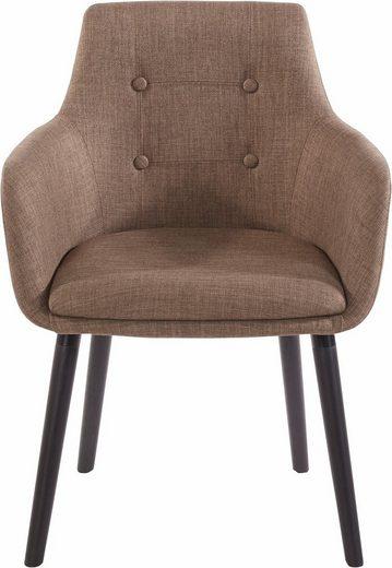 Home affaire Armlehnstuhl »Bradford« (Set, 1 Stück), (1 oder 2 Stück), Bezug in Webstoff, Gestell aus Eiche Massivholz