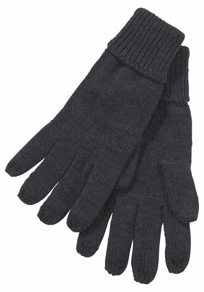 J.Jayz Strickhandschuhe mit Umschlagbündchen | Accessoires > Handschuhe > Strickhandschuhe | Grau | J.Jayz