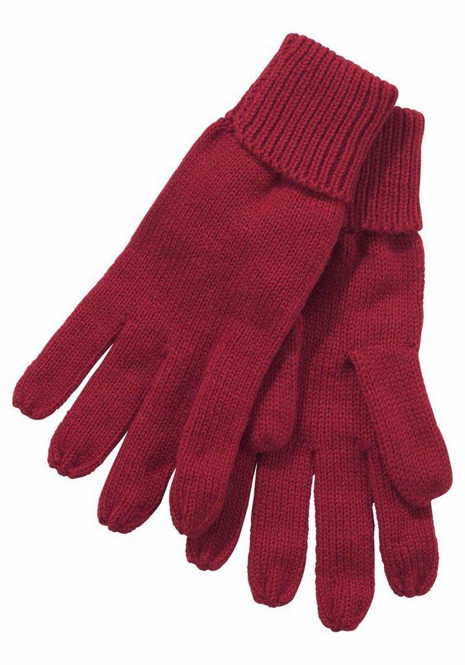 J.Jayz Strickhandschuhe im klassischen Design | Accessoires > Handschuhe > Strickhandschuhe | Rot | J.Jayz