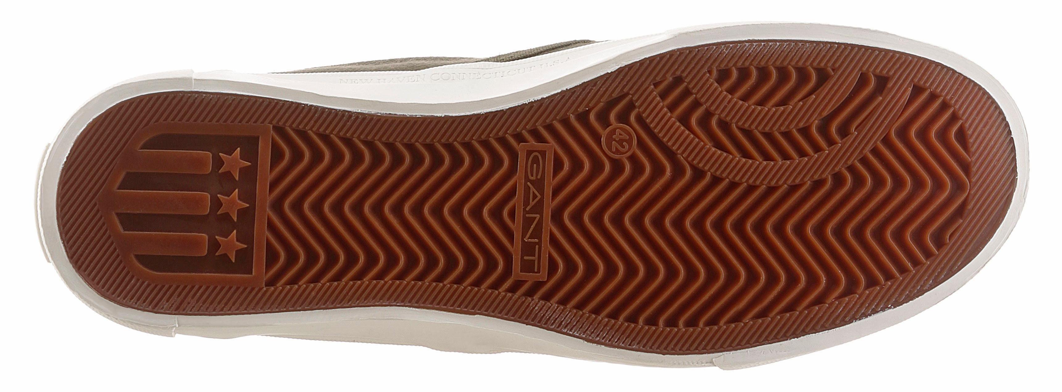 Gant Footwear Hero Sneaker, mit Logo-Stickerei  khaki