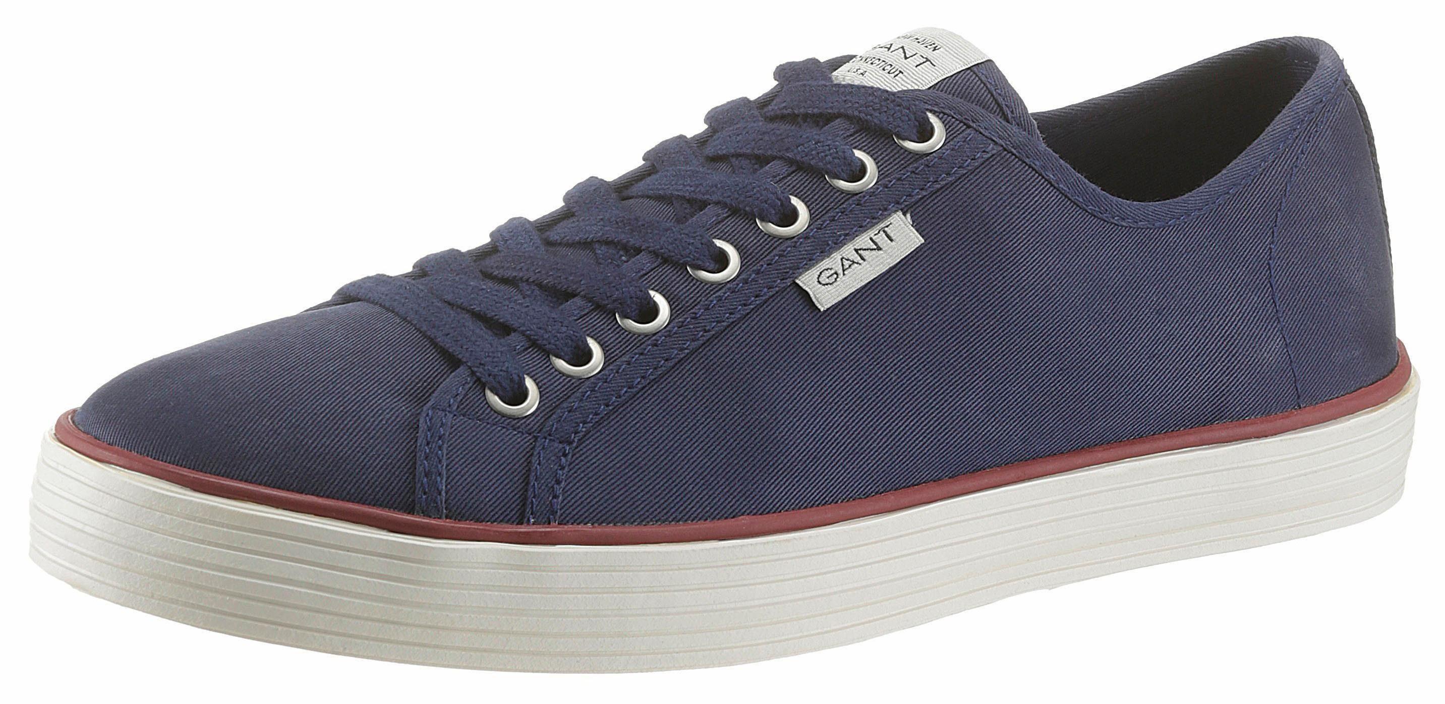 Gant Footwear »Baron« Sneaker, mit seitlichem Logo-Flag, beige, 41 41