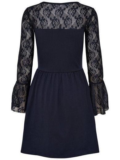 Only Spitzen Kleid mit langen Ärmeln