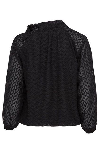 Damen Belloya Schluppenbluse mit Strickdetail schwarz | 05400554019919