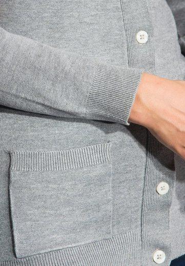 Vincenzo Boretti Strickjacke mit aufgesetzten Taschen