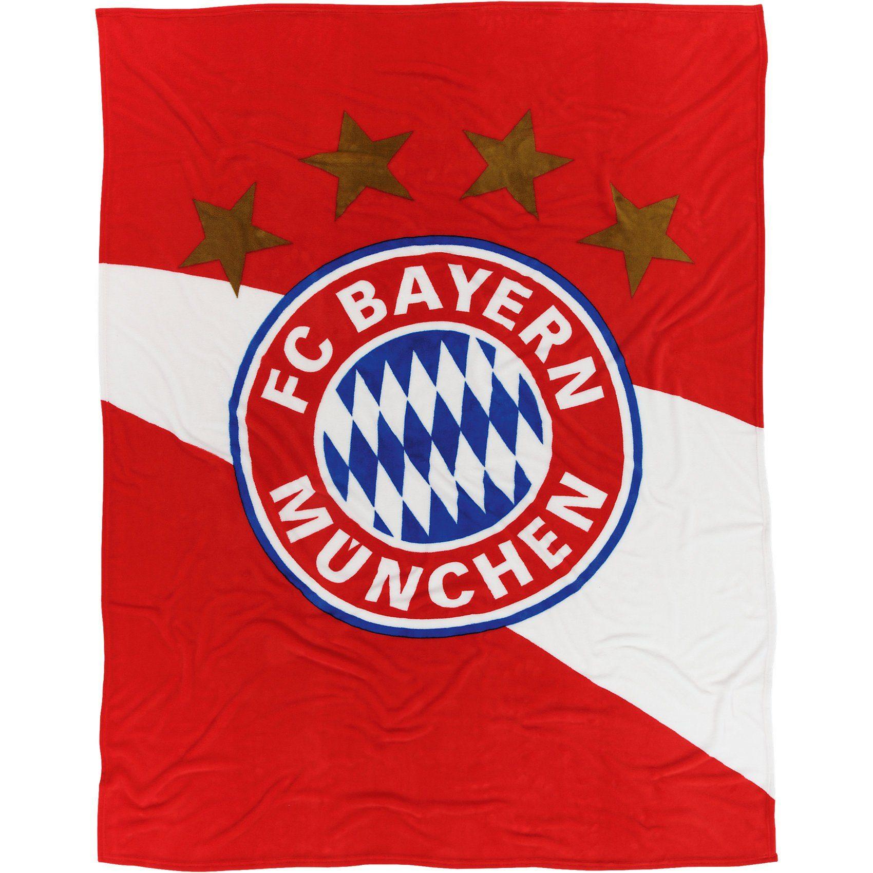 FC Bayern München Kuschelfleecedecke rot/weiß