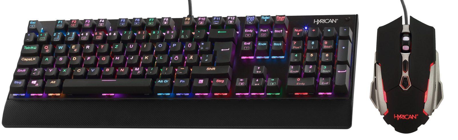 Hyrican Set aus RGB Gaming Maus + Tastatur »ST- MK31/GM081 Upgrade Kit«