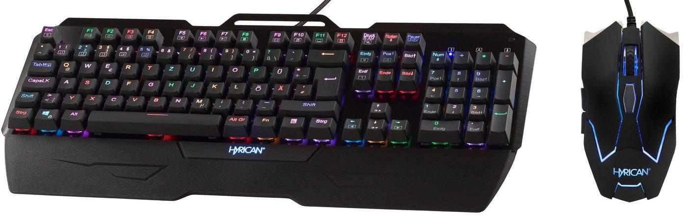 Hyrican Striker Gaming Spar Set, RGB Maus + Tastatur »MK29/GM075«
