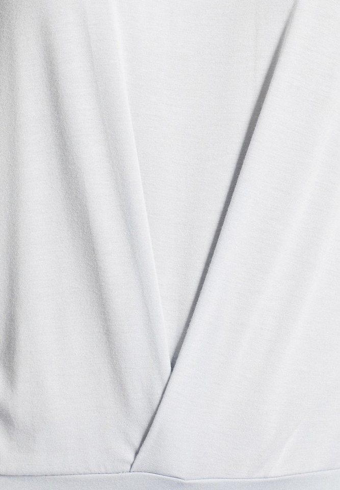 khujo Langarmshirt »STRAND« mit seitlichen Schnürungen am Saum
