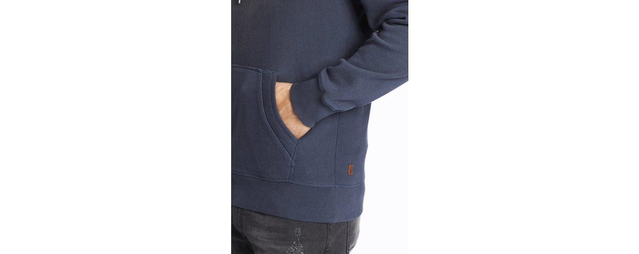 khujo Kapuzensweatshirt WELDO, mit verwaschener Optik