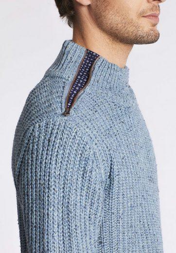 khujo Strickpullover PARIS, mit Reißverschluss auf der Schulter