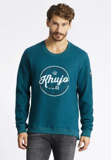 khujo Sweatshirt VOUR, mit Logo auf der Front