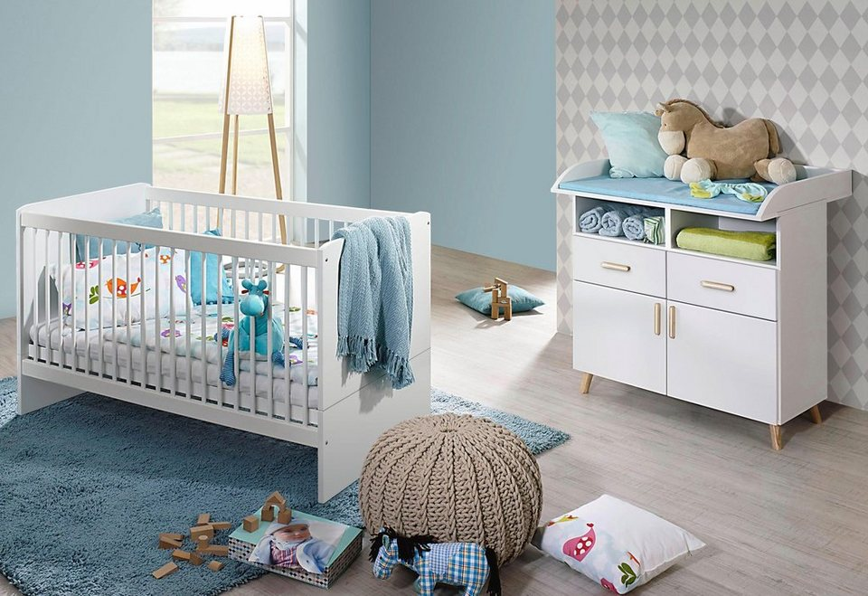 babyzimmer spar set potsdam babybett wickelkommode 2. Black Bedroom Furniture Sets. Home Design Ideas