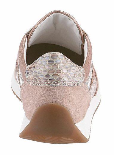 Ara Sneaker, mit Reptilienprägung