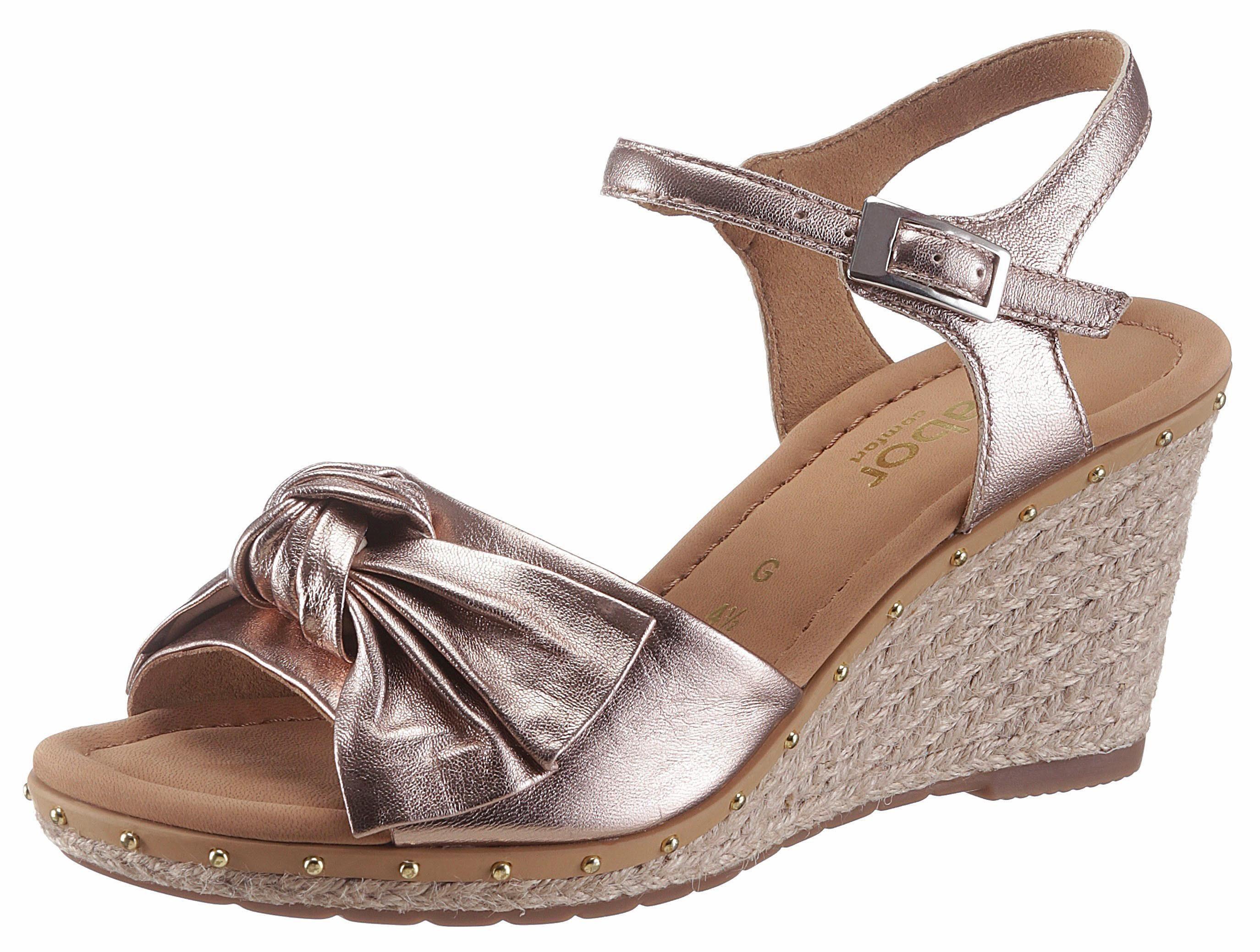 Gabor Sandalette, im trendigen Metallic Look mit Nieten besetz online kaufen  roségoldfarben