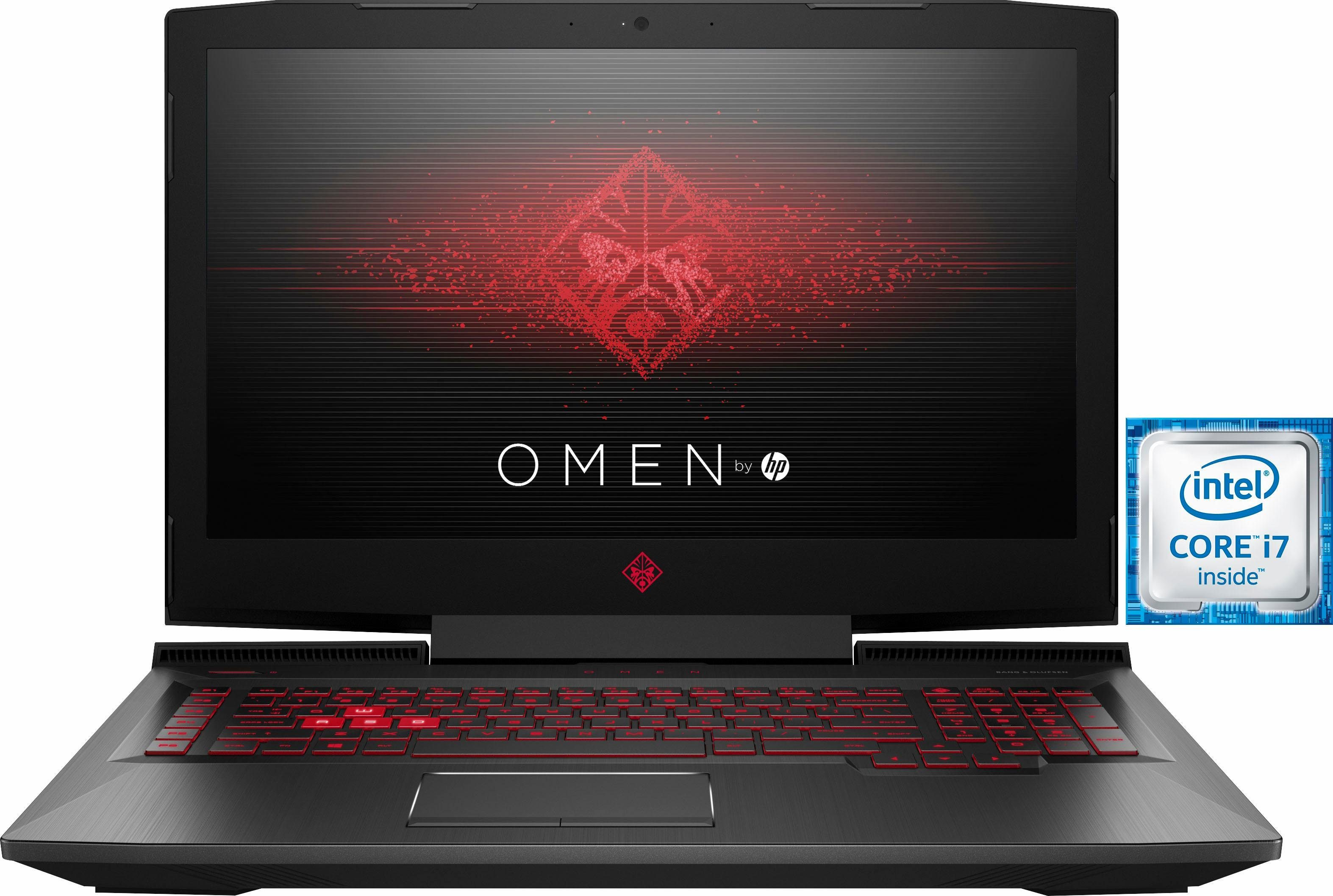 HP OMEN by HP 17-an040ng Gaming-Notebook (43,9 cm/17,3 Zoll, Intel Core i7, GeForce GTX 1050 Ti, 1000 GB HDD, 256 GB SSD)