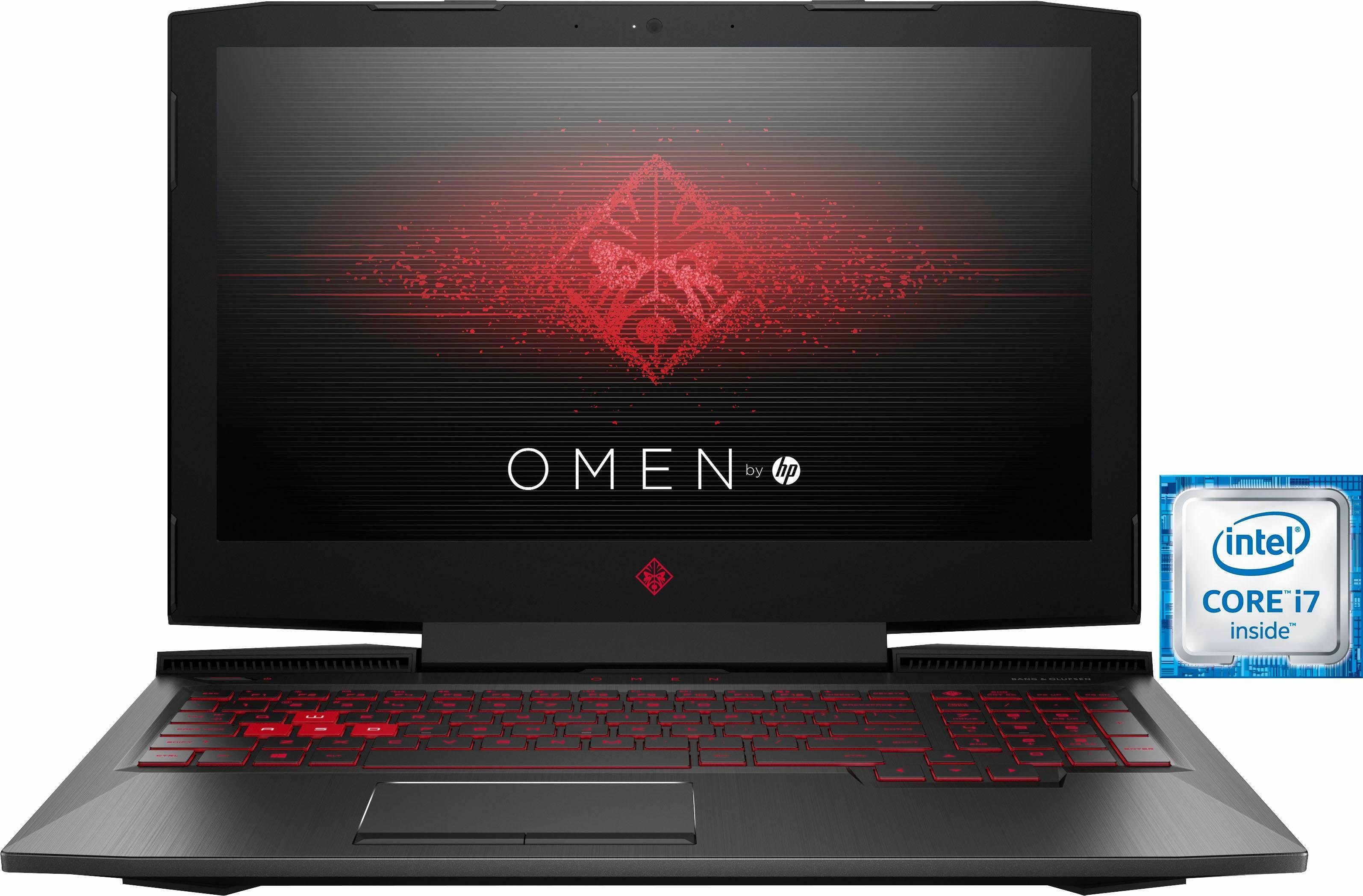HP OMEN by HP 15-ce018ng Gaming-Notebook (39,6 cm/15,6 Zoll, Intel Core i7, GeForce GTX 1050, 1000 GB HDD)