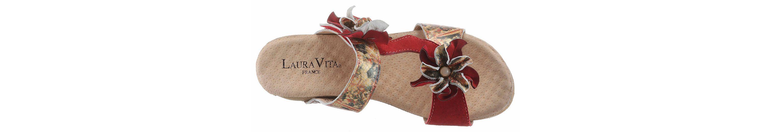 LAURA VITA Bingo Pantolette, mit schöner Blütenverzierung