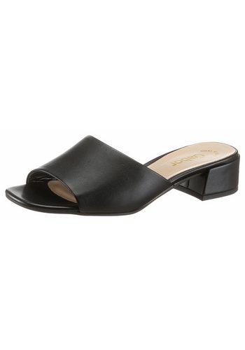 Damen Gabor Pantolette in klassichem Stil schwarz | 04058395055651