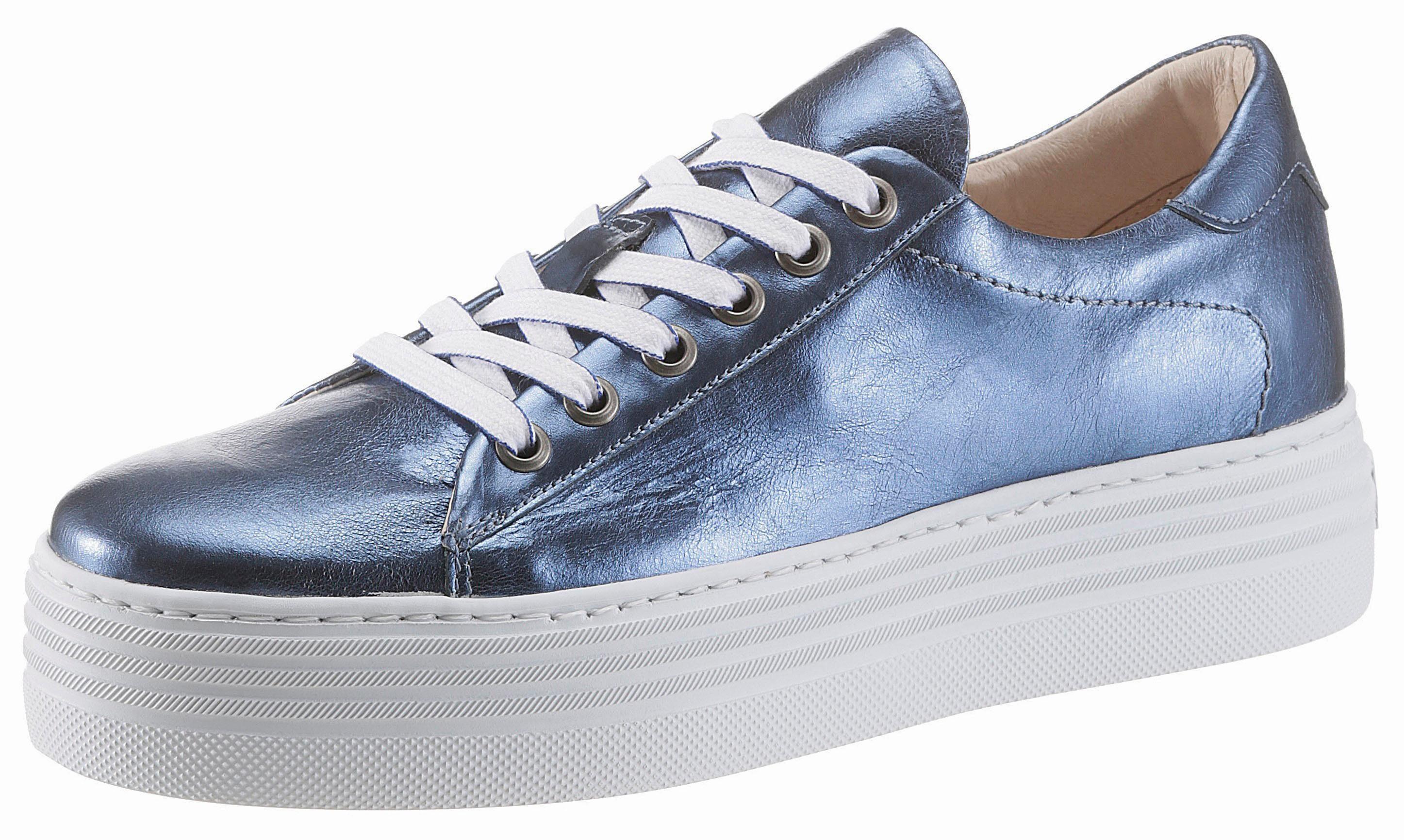 Arizona Plateausneaker, in Metallic-Crashoptik, blau, jeansblau