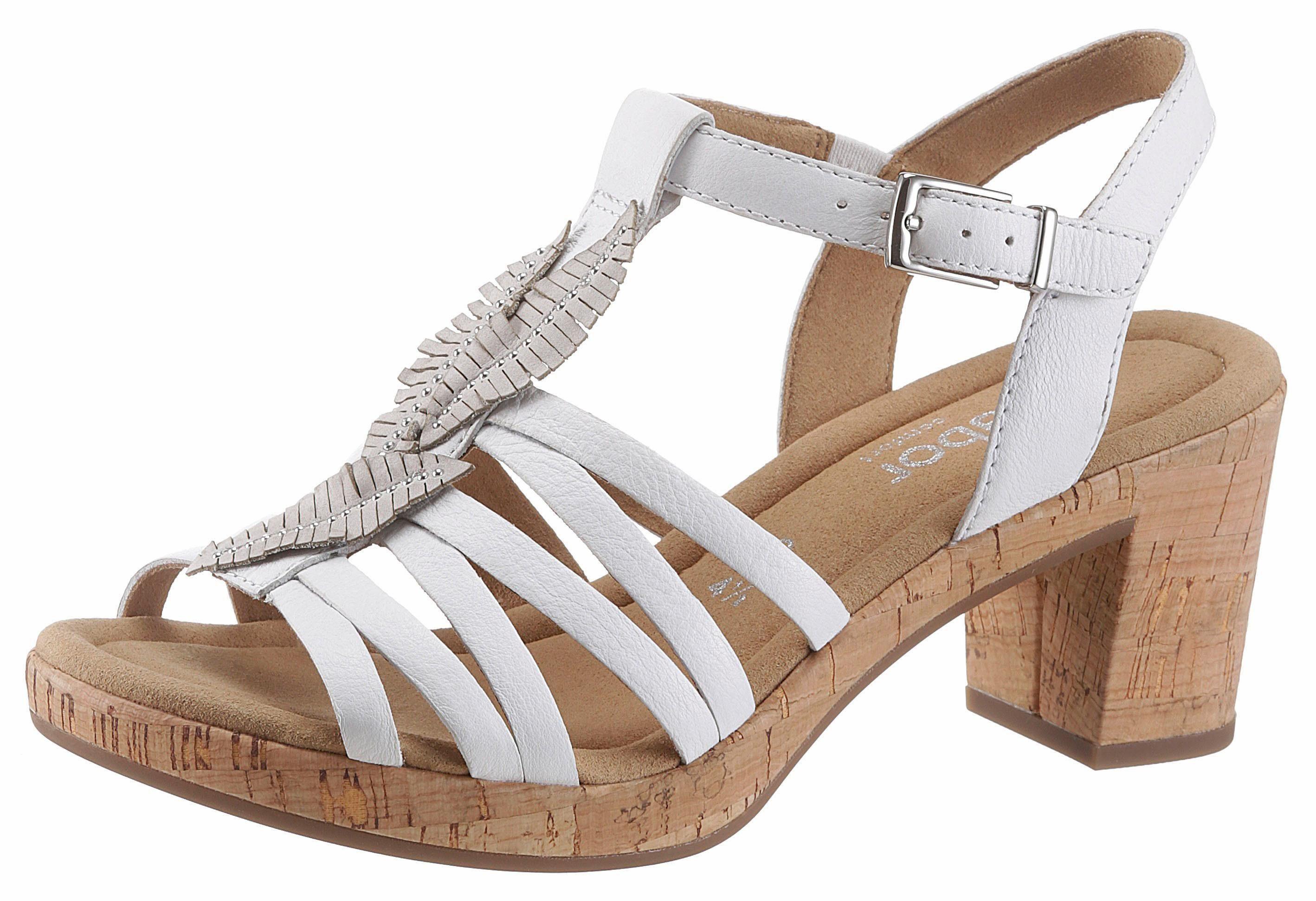 Gabor Sandalette, mit feinen Strasssteinen kaufen  weiß