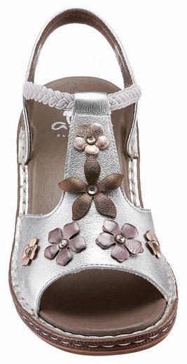 Sandale À Lanières Avec Ornement Floral
