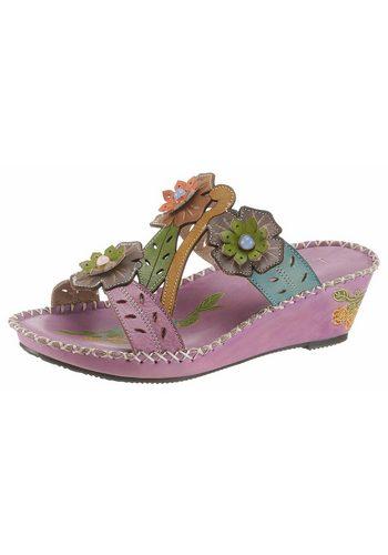 Damen LAURA VITA Betsy Pantolette mit bunten Blüten bunt,mehrfarbig | 03663412924431