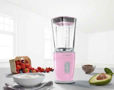 BOSCH Standmixer VitaStyle Mixx2Go MMBM4G6K, 350 W, mit ThermoSafe Glasbehälter (600 ml)