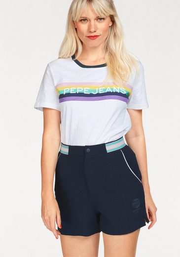 Pepe Jeans T-Shirt LUCA, mit Retro-Applikation