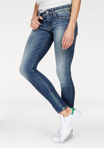 Replay Skinny-fit-Jeans LUZ COINZIP, mit angesagtem Crinkle Effekt