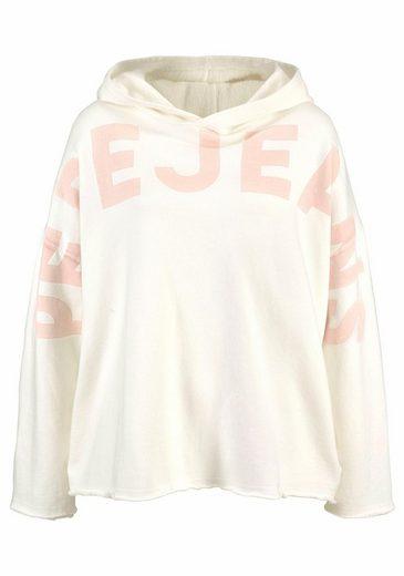 Pepe Jeans Kapuzensweatshirt ANGEL, mit großem Logoprint