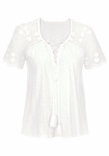 Kaporal T-Shirt LOVE, mit Spitzenoberteil