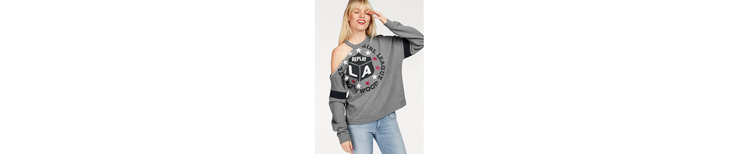 Replay Sweatshirt, mit Cut-Out an der Schulter