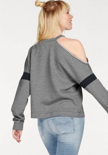 Replay Sweatshirt, mit Cut-Out an der Schulter