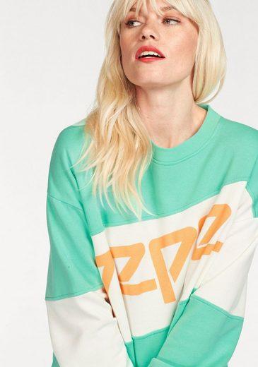 Sweat-shirt En Jean Pepe Angela, En Look Oversize