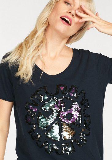 gwynedds Rundhalsshirt Fiona the Shirt, mit Pailetten