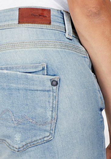 Pepe Jeans Caprijeans SATURN CROP, mit kleinem Schlitz