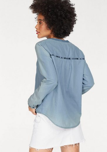 Pepe Jeans Jean Blouse Alia, With Decorative Embroidered With Pearls
