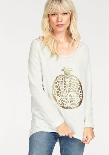gwynedds Sweatshirt Betty the Sweat, mit mit metalicfarbenen Print