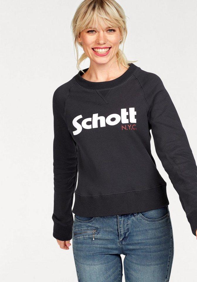 schott nyc -  Sweatshirt »SW Ginger 1W« mit großem Frontprint