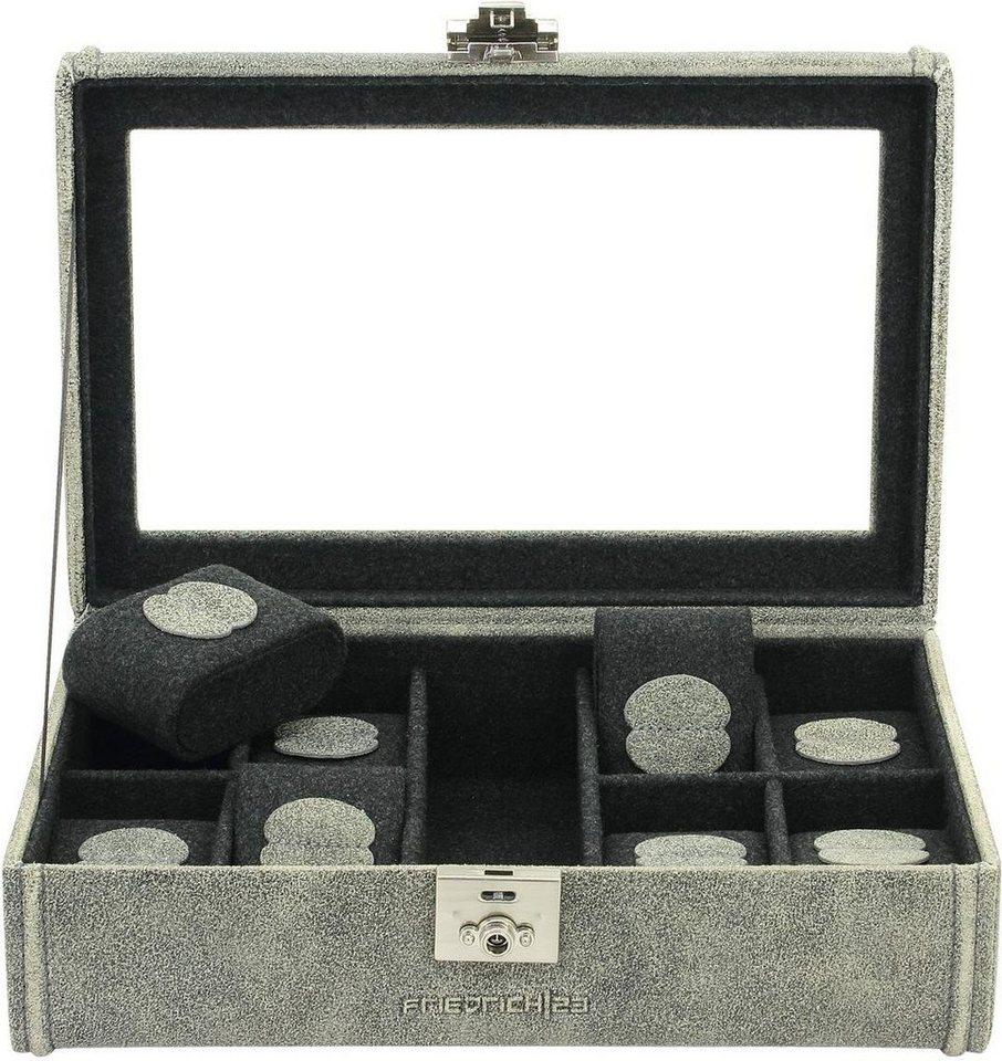 Friedrich23 Uhrenkasten »Cubano, 27022-8« | Uhren > Uhrenboxen | Grau | Friedrich23